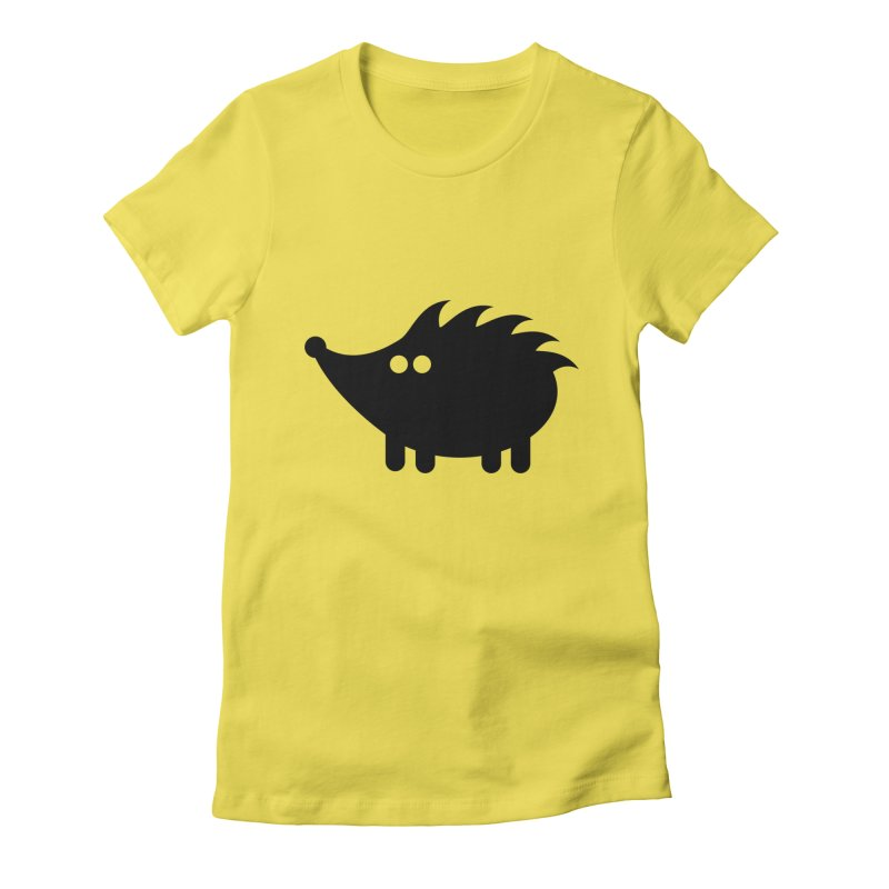 Hedgehog Icon Women's Fitted T-Shirt by