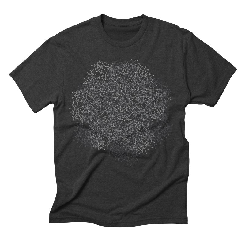 Geometric in Men's Triblend T-shirt Heather Onyx by