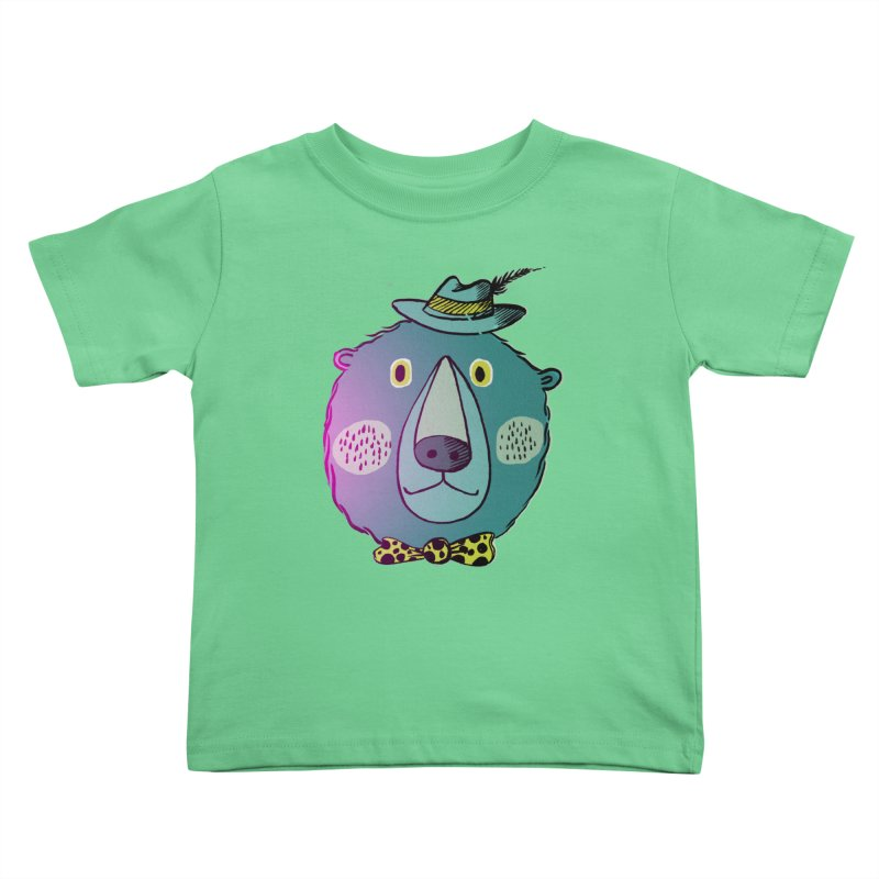 Papa Bear in Kids Toddler T-Shirt Grass by