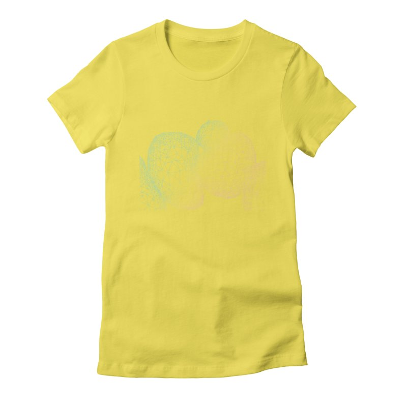 Geometric doodles Women's Fitted T-Shirt by