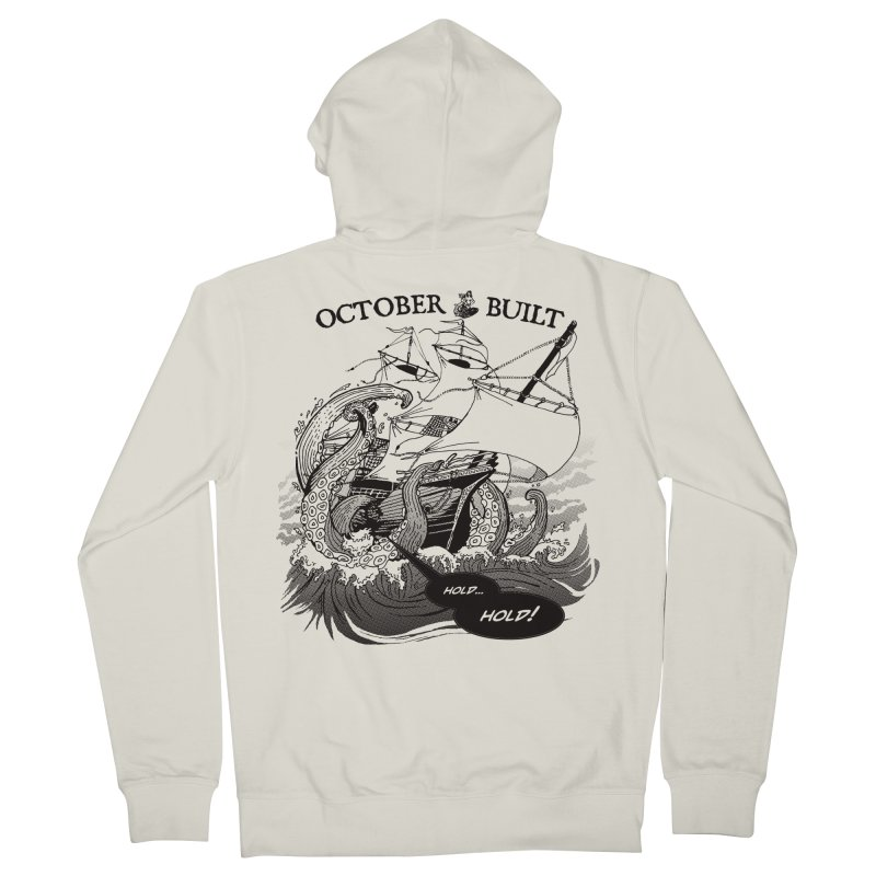 Hold Fast Women's French Terry Zip-Up Hoody by octoberbuilt's Artist Shop