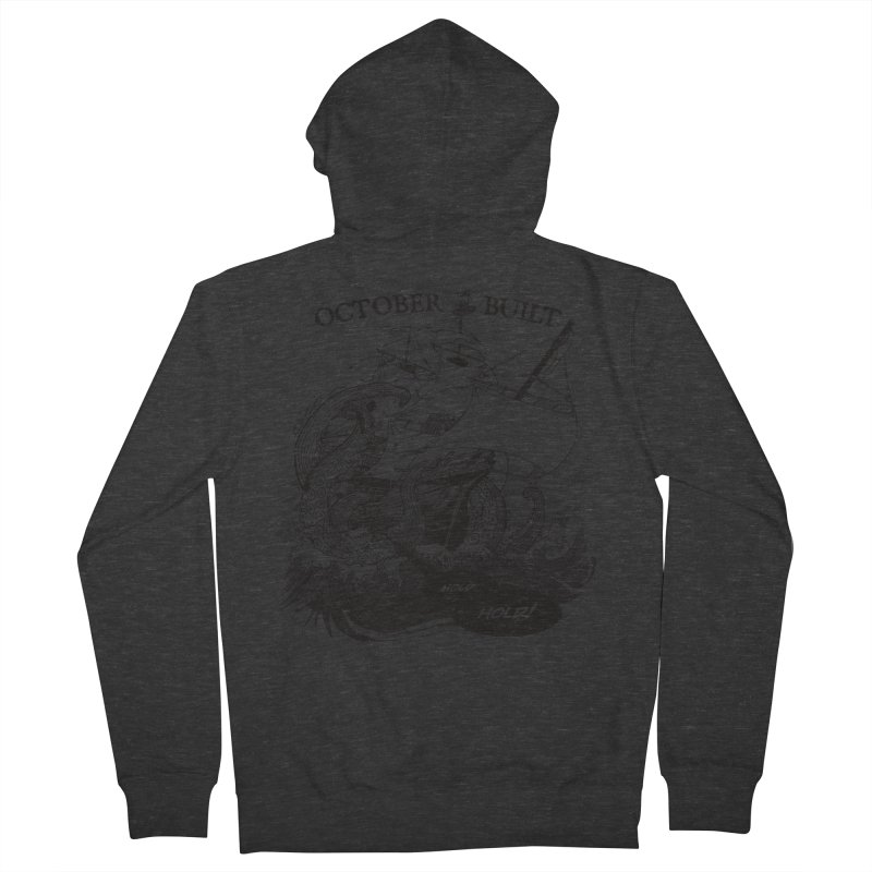 Hold Fast Men's French Terry Zip-Up Hoody by octoberbuilt's Artist Shop