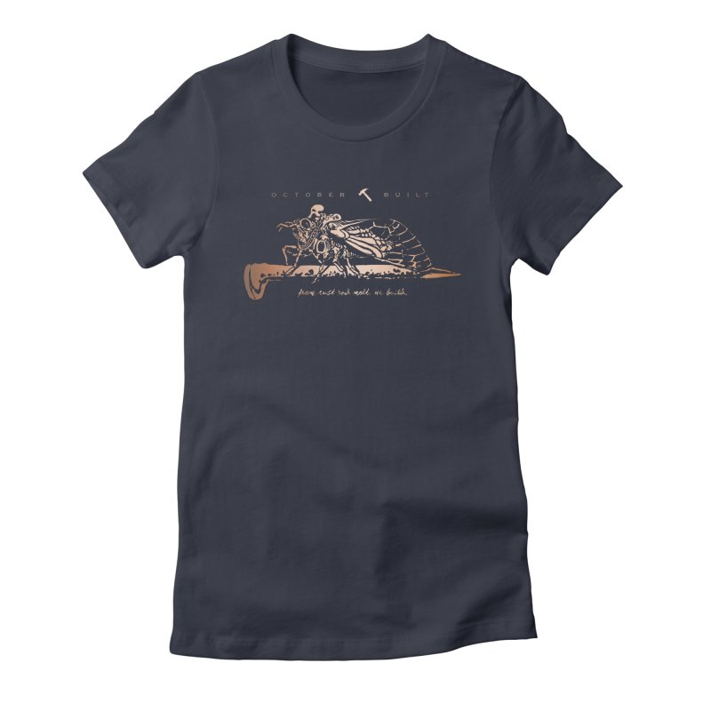 Rust and Molt Women's Fitted T-Shirt by octoberbuilt's Artist Shop