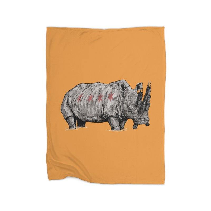 Chi-Noceros Home Fleece Blanket Blanket by Octophant's Artist Shop