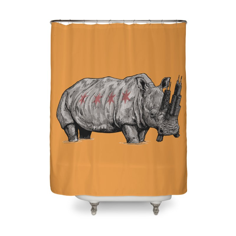 Chi-Noceros Home Shower Curtain by Octophant's Artist Shop