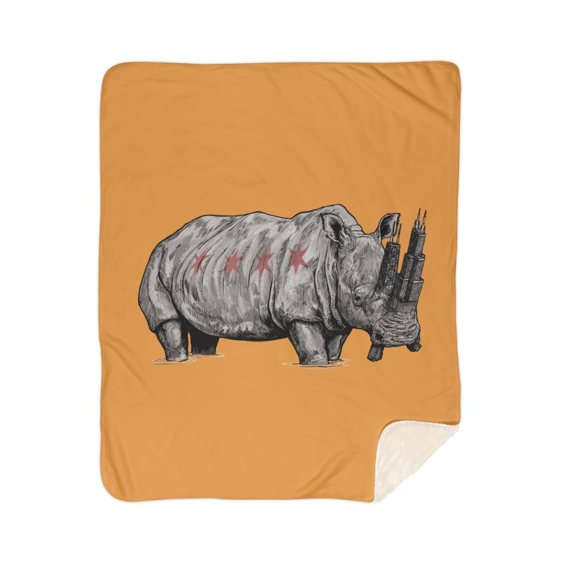 Chi-Noceros Home Sherpa Blanket Blanket by Octophant's Artist Shop