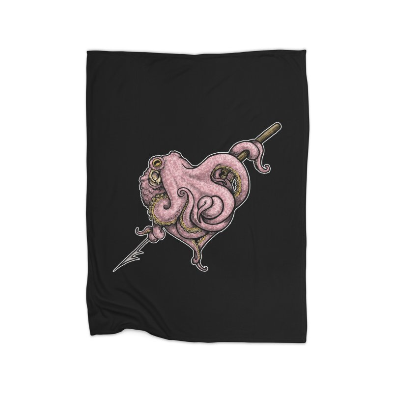CephaLovePod on Black Home Fleece Blanket Blanket by Octophant's Artist Shop