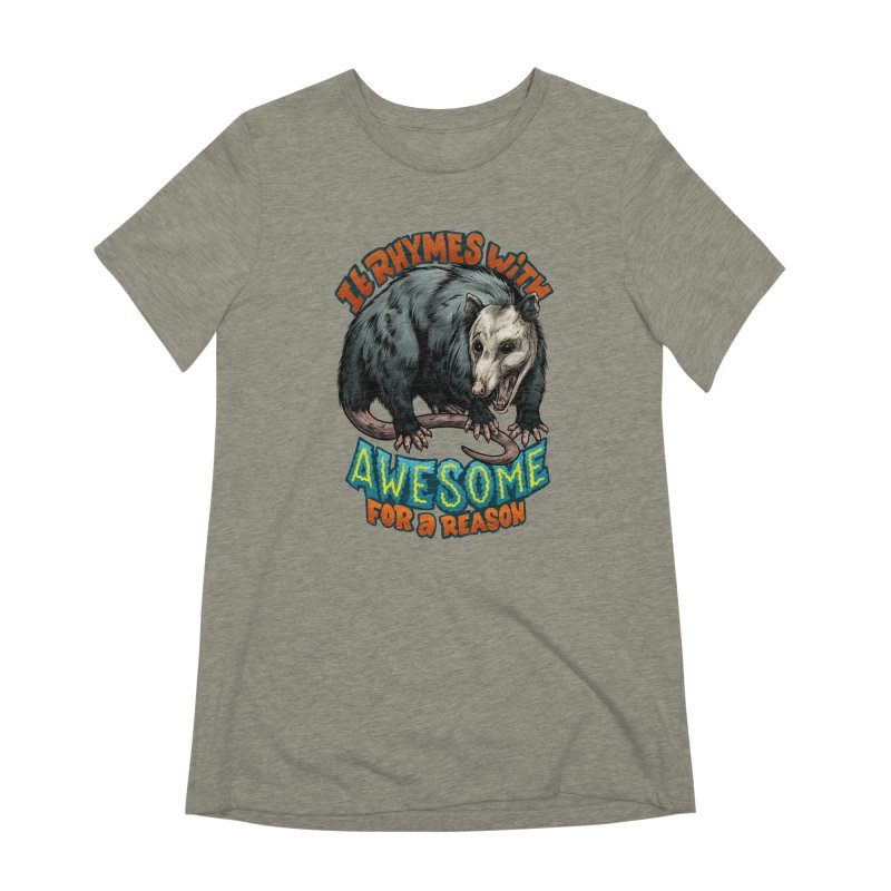 Awesome Possum (High Key) Women's Extra Soft T-Shirt by Octophant's Artist Shop