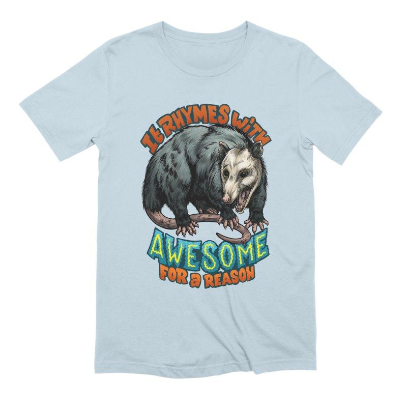 Awesome Possum (High Key) Men's Extra Soft T-Shirt by Octophant's Artist Shop