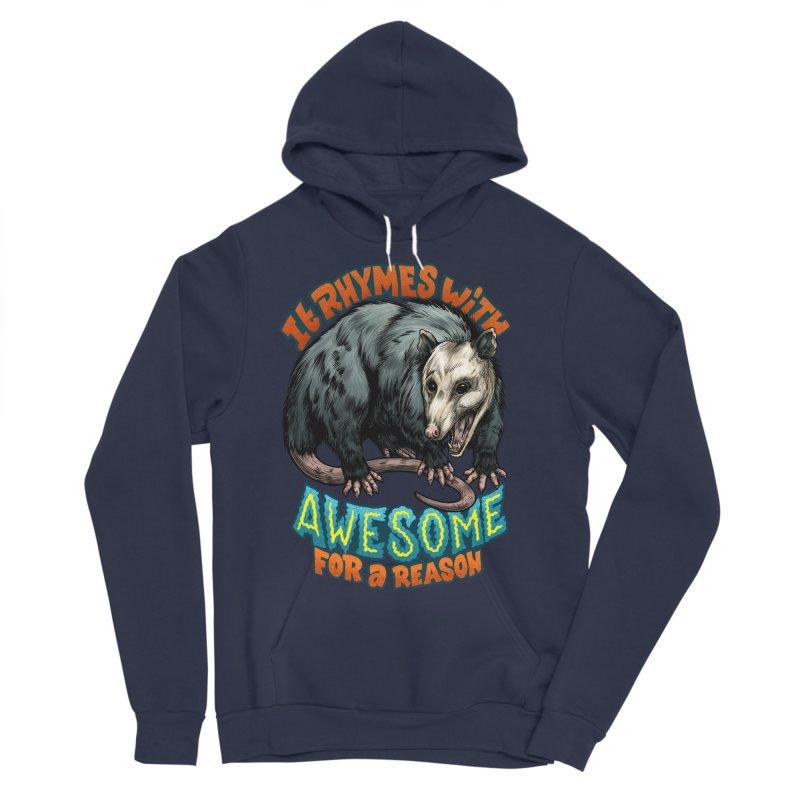 Awesome Possum (High Key) Men's Sponge Fleece Pullover Hoody by Octophant's Artist Shop