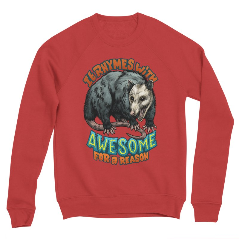 Awesome Possum (High Key) Men's Sponge Fleece Sweatshirt by Octophant's Artist Shop
