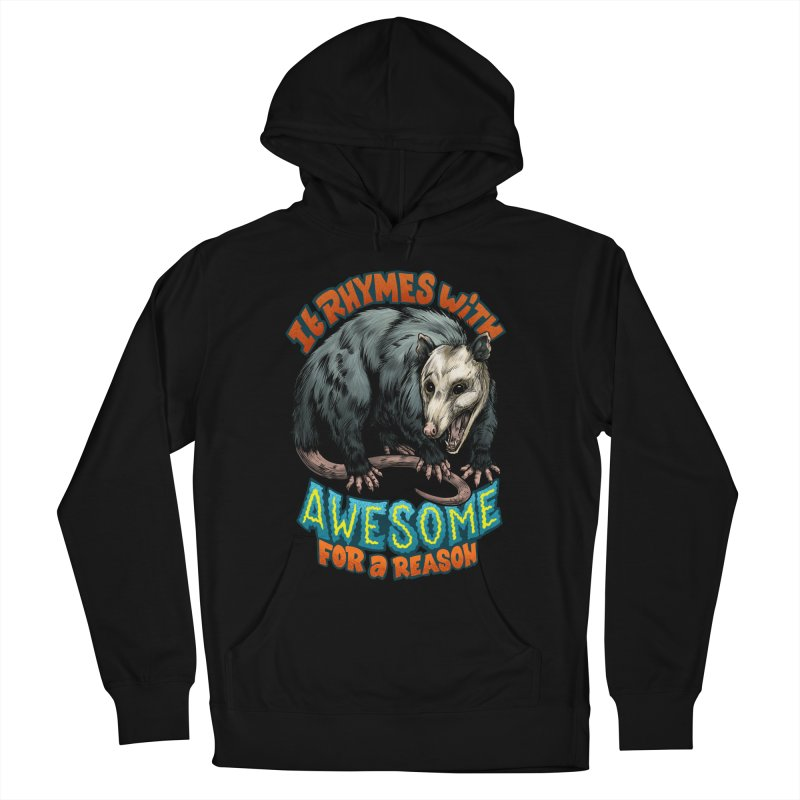 Awesome Possum (High Key) Women's French Terry Pullover Hoody by Octophant's Artist Shop