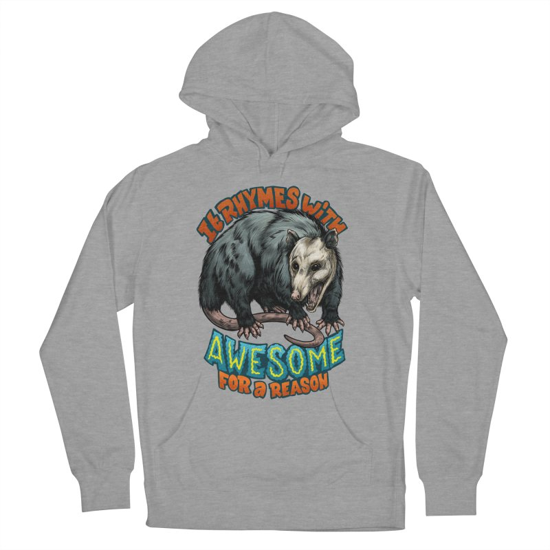 Awesome Possum (High Key) Men's French Terry Pullover Hoody by Octophant's Artist Shop