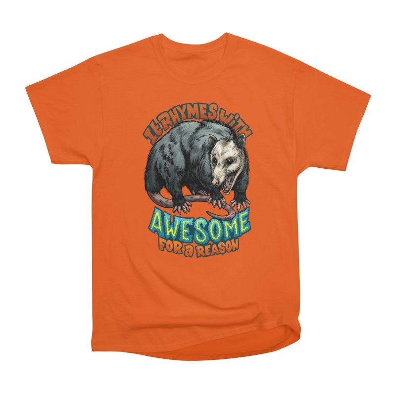 Awesome Possum (High Key) Women's Heavyweight Unisex T-Shirt by Octophant's Artist Shop
