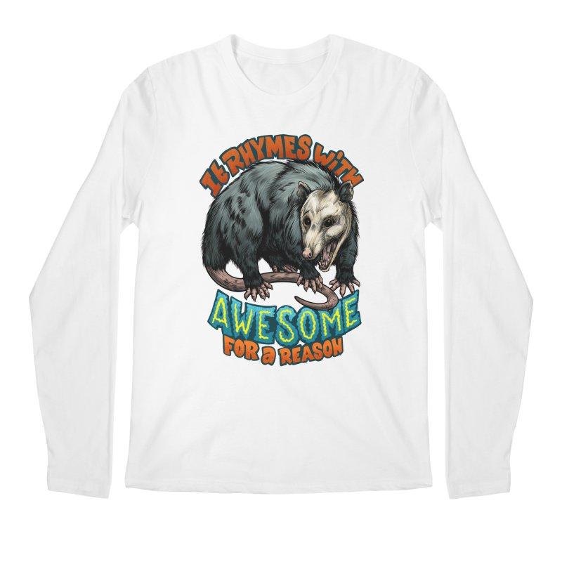 Awesome Possum (High Key) Men's Regular Longsleeve T-Shirt by Octophant's Artist Shop