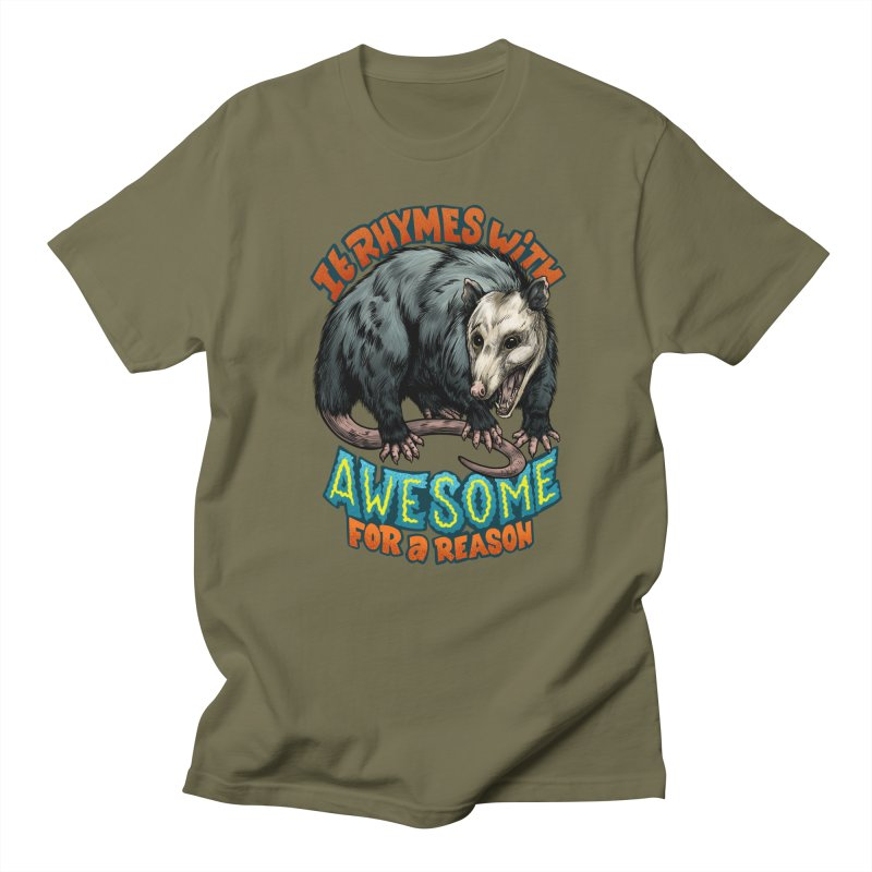 Awesome Possum (High Key) Men's Regular T-Shirt by Octophant's Artist Shop