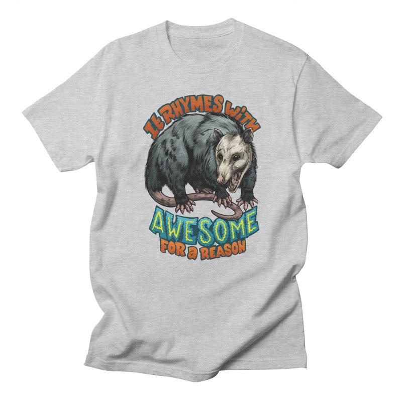 Awesome Possum (High Key) Men's Regular T-Shirt by Octophant's Artist Shop