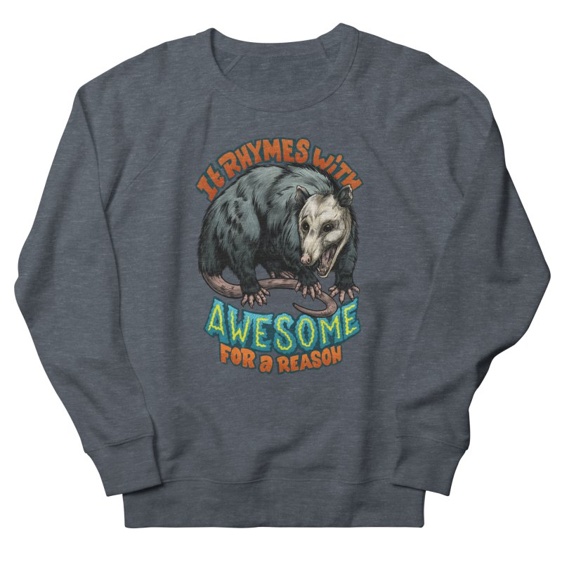 Awesome Possum (High Key) Men's French Terry Sweatshirt by Octophant's Artist Shop