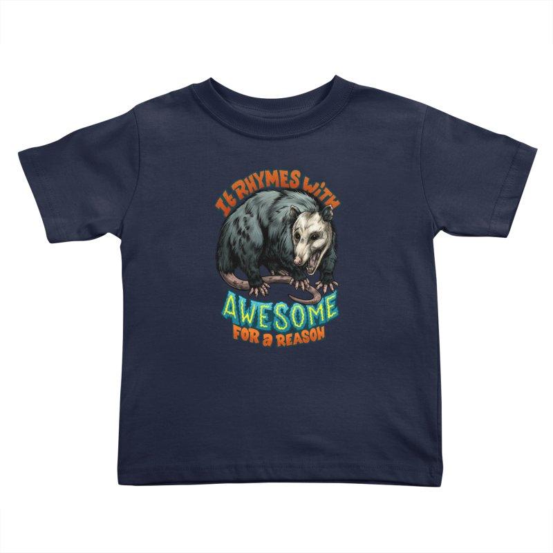 Awesome Possum (High Key) Kids Toddler T-Shirt by Octophant's Artist Shop