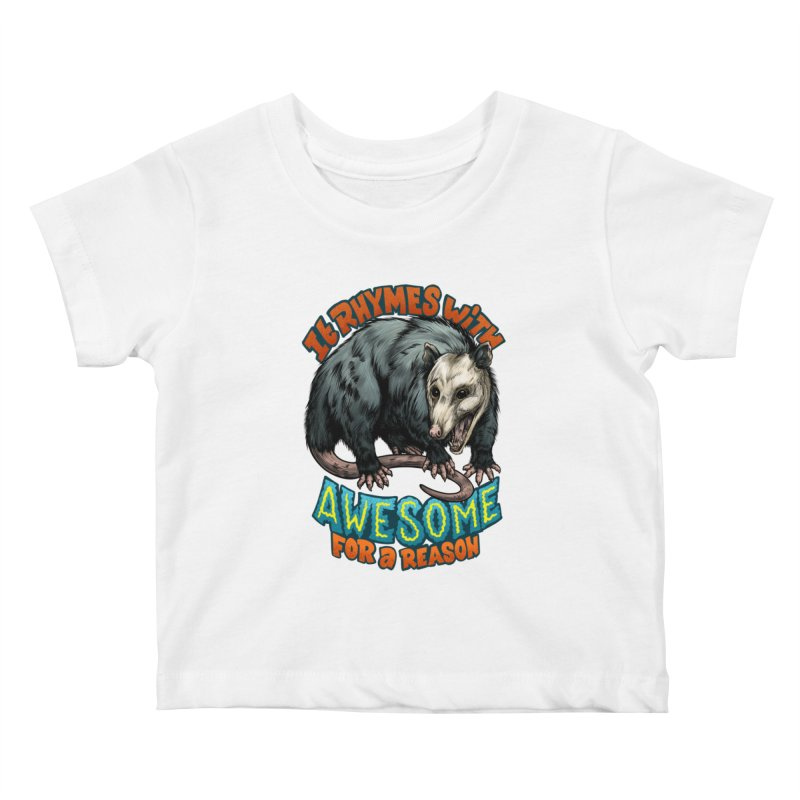 Awesome Possum (High Key) Kids Baby T-Shirt by Octophant's Artist Shop