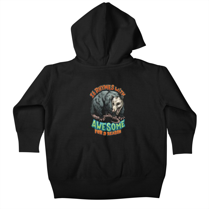 Awesome Possum (High Key) Kids Baby Zip-Up Hoody by Octophant's Artist Shop