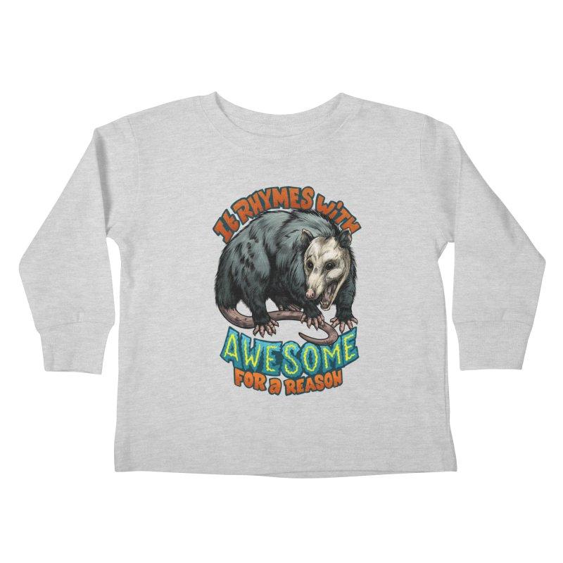 Awesome Possum (High Key) Kids Toddler Longsleeve T-Shirt by Octophant's Artist Shop