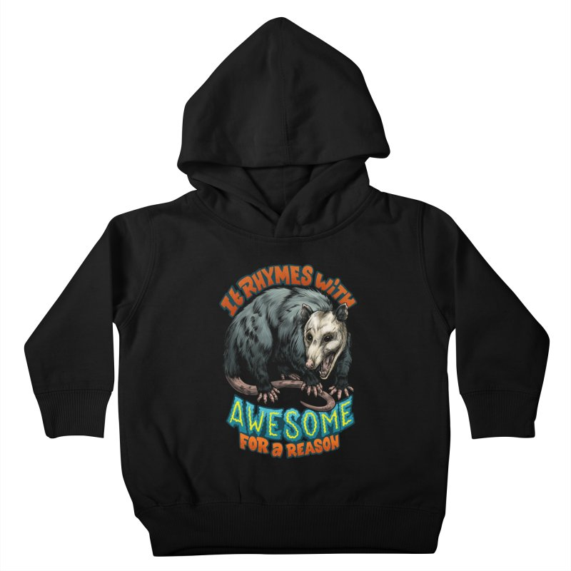 Awesome Possum (High Key) Kids Toddler Pullover Hoody by Octophant's Artist Shop