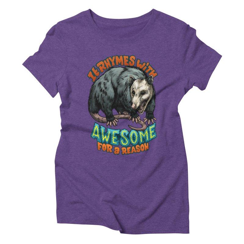 Awesome Possum (High Key) Women's Triblend T-Shirt by Octophant's Artist Shop