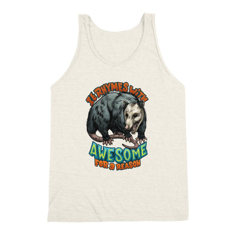 Awesome Possum (High Key) Men's Triblend Tank by Octophant's Artist Shop