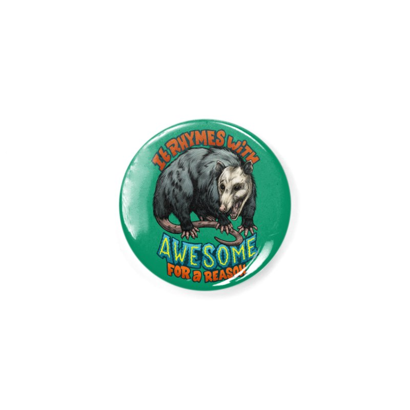Awesome Possum (High Key) Accessories Button by Octophant's Artist Shop