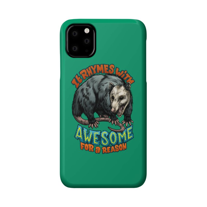 Awesome Possum (High Key) Accessories Phone Case by Octophant's Artist Shop