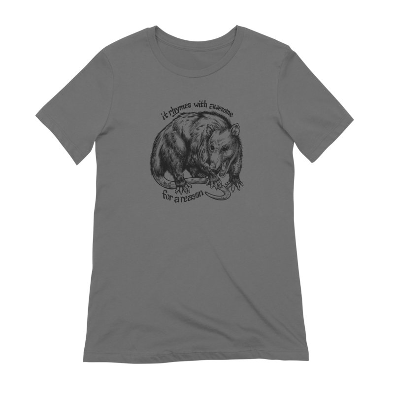 Awesome Possum (Low Key) Women's Extra Soft T-Shirt by Octophant's Artist Shop