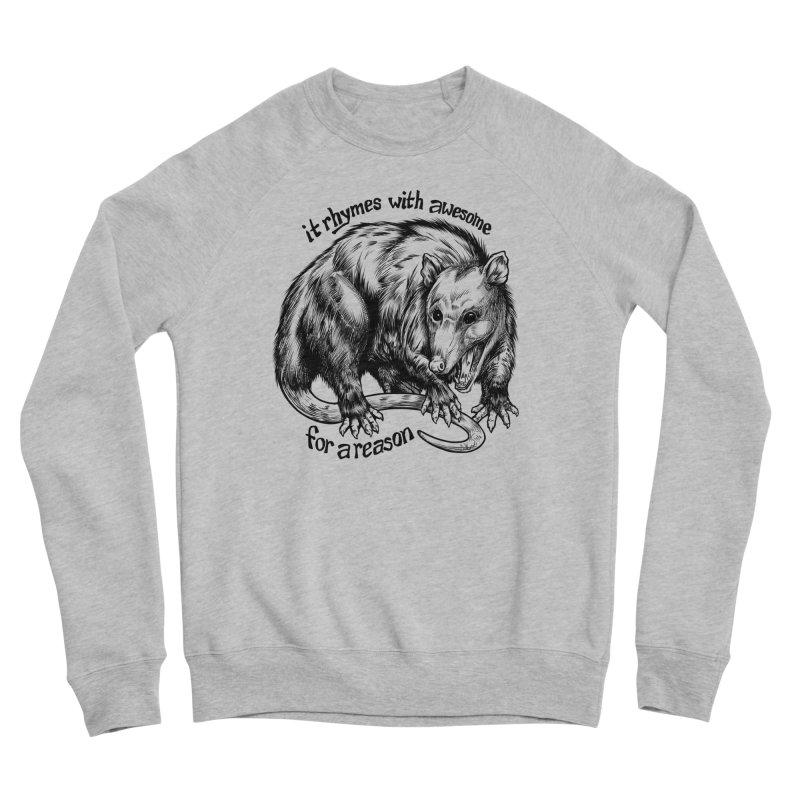 Awesome Possum (Low Key) Women's Sponge Fleece Sweatshirt by Octophant's Artist Shop