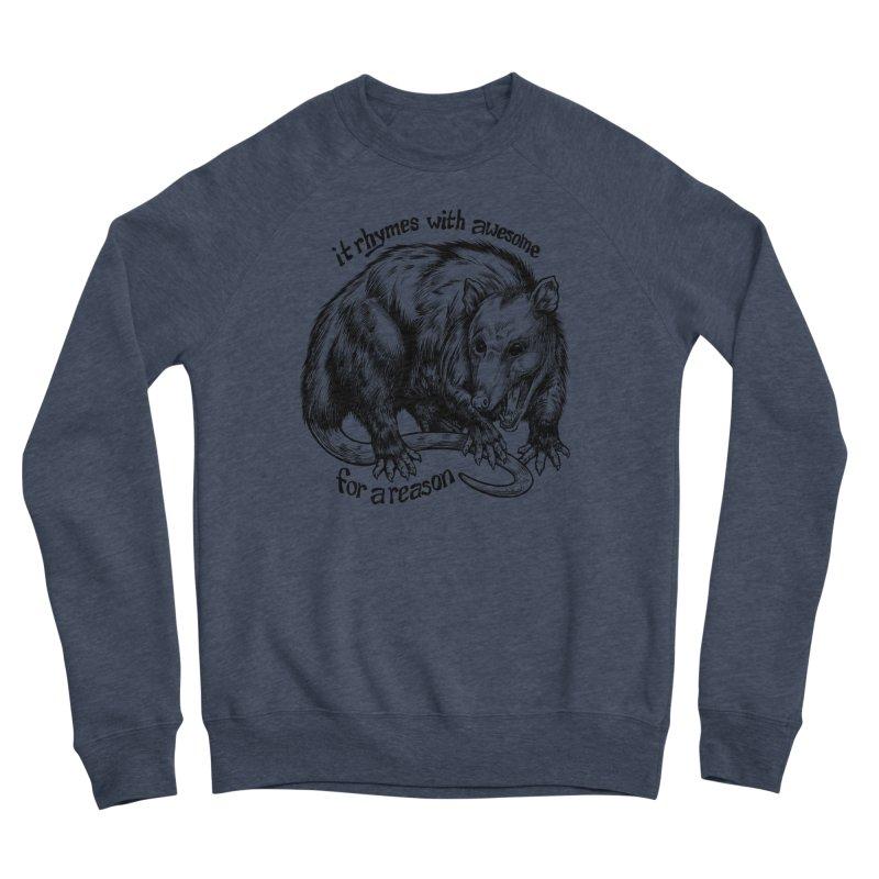 Awesome Possum (Low Key) Men's Sponge Fleece Sweatshirt by Octophant's Artist Shop