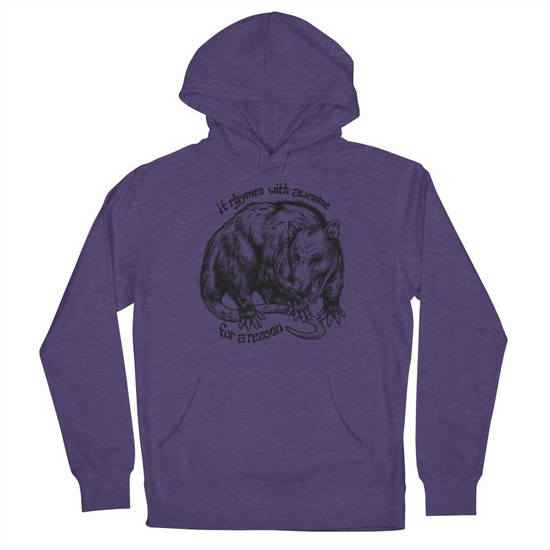 Awesome Possum (Low Key) Men's French Terry Pullover Hoody by Octophant's Artist Shop