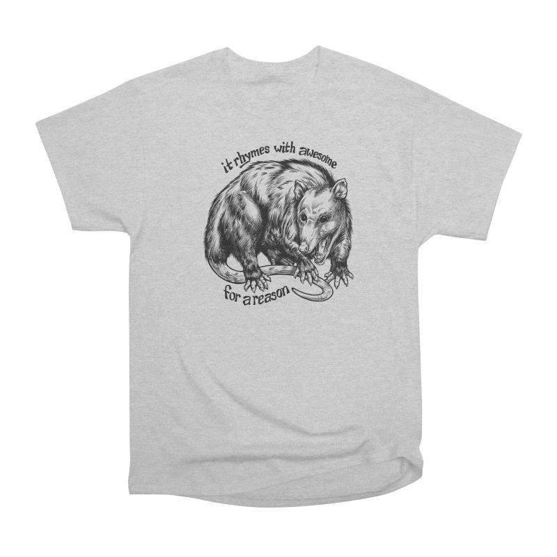 Awesome Possum (Low Key) Men's Heavyweight T-Shirt by Octophant's Artist Shop