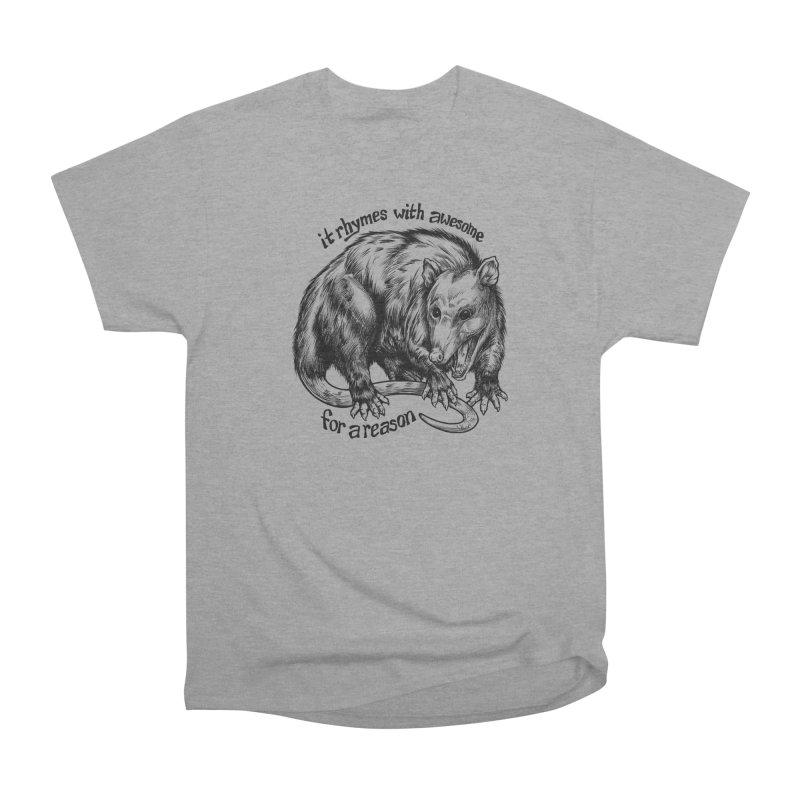 Awesome Possum (Low Key) Women's Heavyweight Unisex T-Shirt by Octophant's Artist Shop