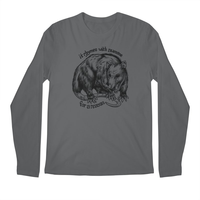 Awesome Possum (Low Key) Men's Regular Longsleeve T-Shirt by Octophant's Artist Shop