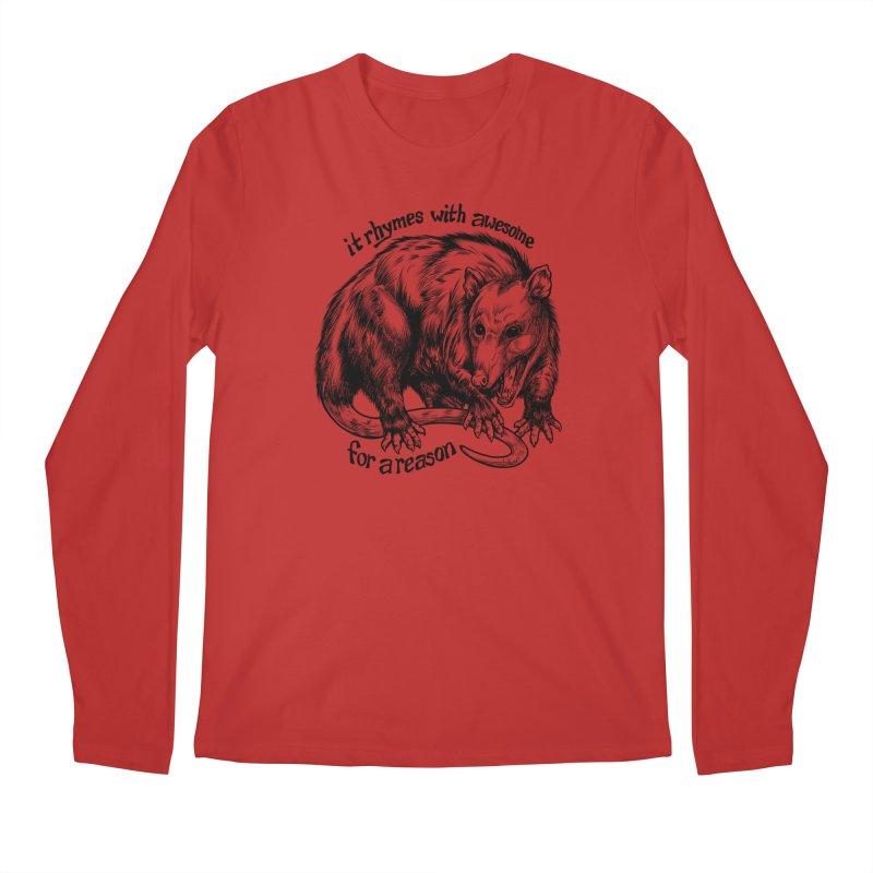 Awesome Possum (Low Key) Men's Regular Longsleeve T-Shirt by Octophant's Artist Shop