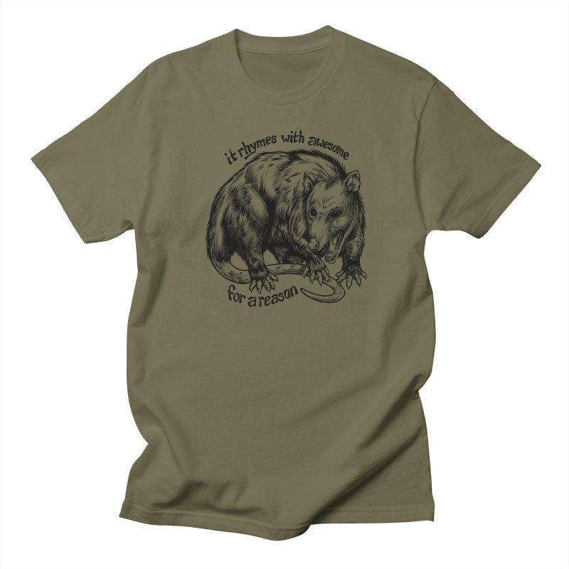 Awesome Possum (Low Key) Men's Regular T-Shirt by Octophant's Artist Shop