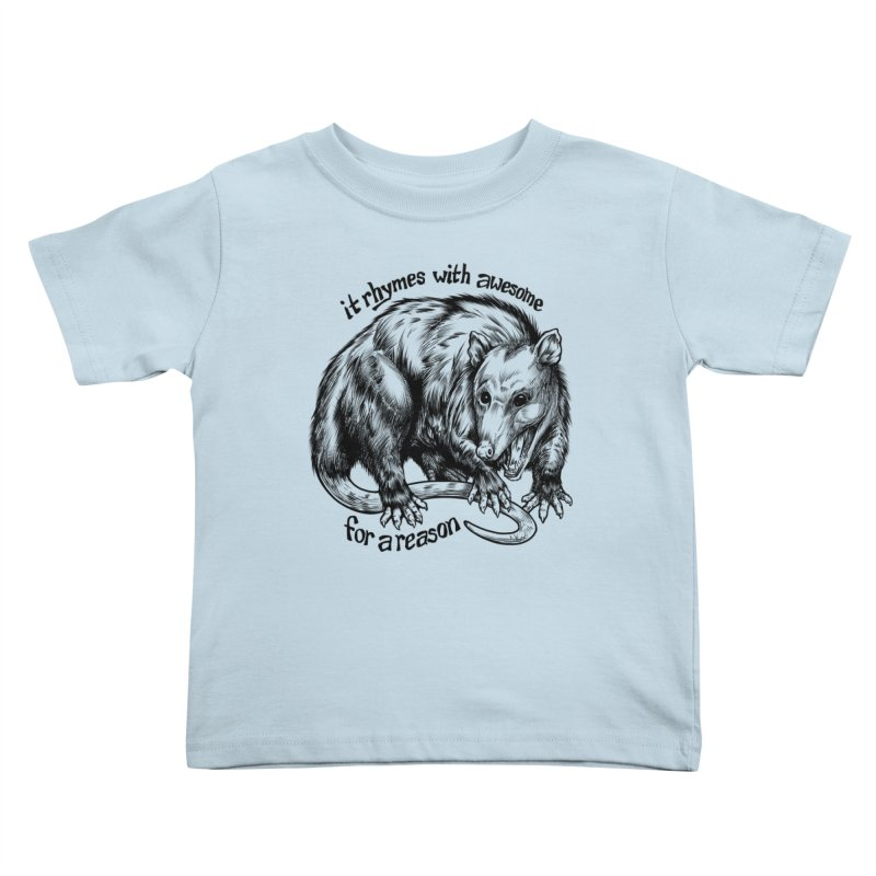 Awesome Possum (Low Key) Kids Toddler T-Shirt by Octophant's Artist Shop