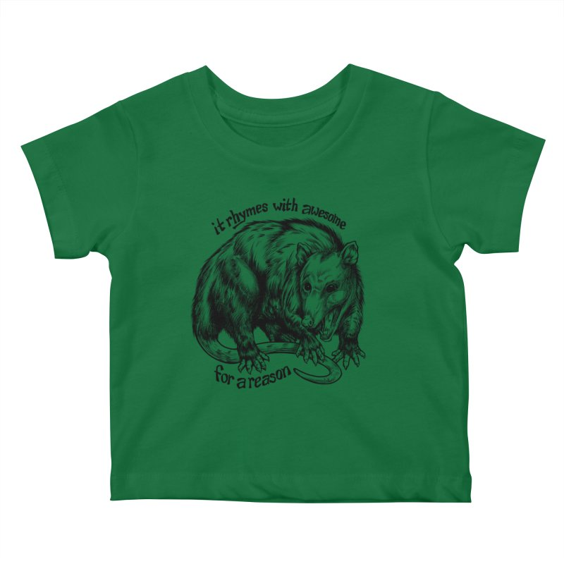 Awesome Possum (Low Key) Kids Baby T-Shirt by Octophant's Artist Shop
