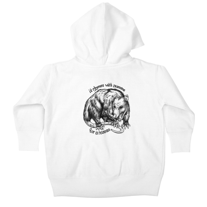 Awesome Possum (Low Key) Kids Baby Zip-Up Hoody by Octophant's Artist Shop