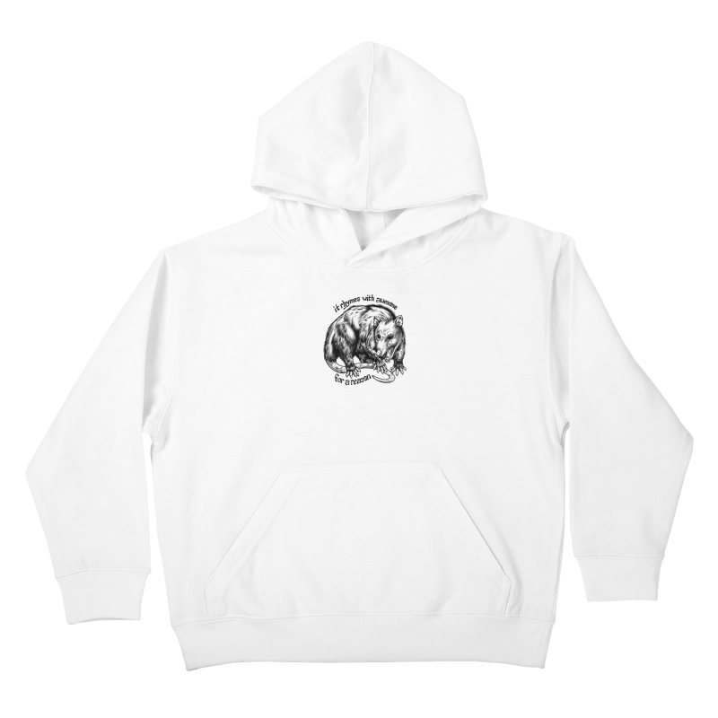 Awesome Possum (Low Key) Kids Pullover Hoody by Octophant's Artist Shop