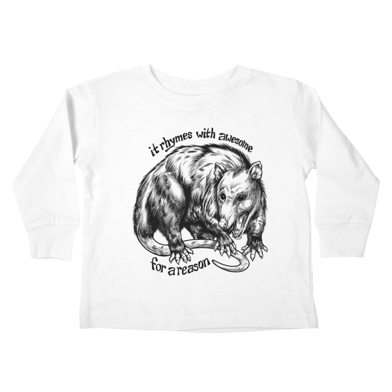 Awesome Possum (Low Key) Kids Toddler Longsleeve T-Shirt by Octophant's Artist Shop