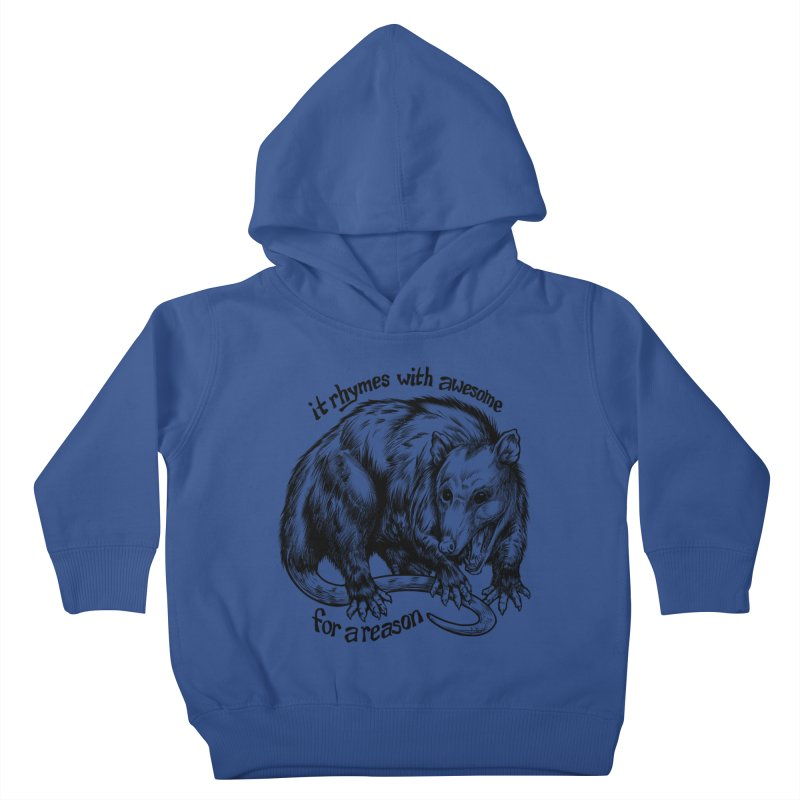 Awesome Possum (Low Key) Kids Toddler Pullover Hoody by Octophant's Artist Shop