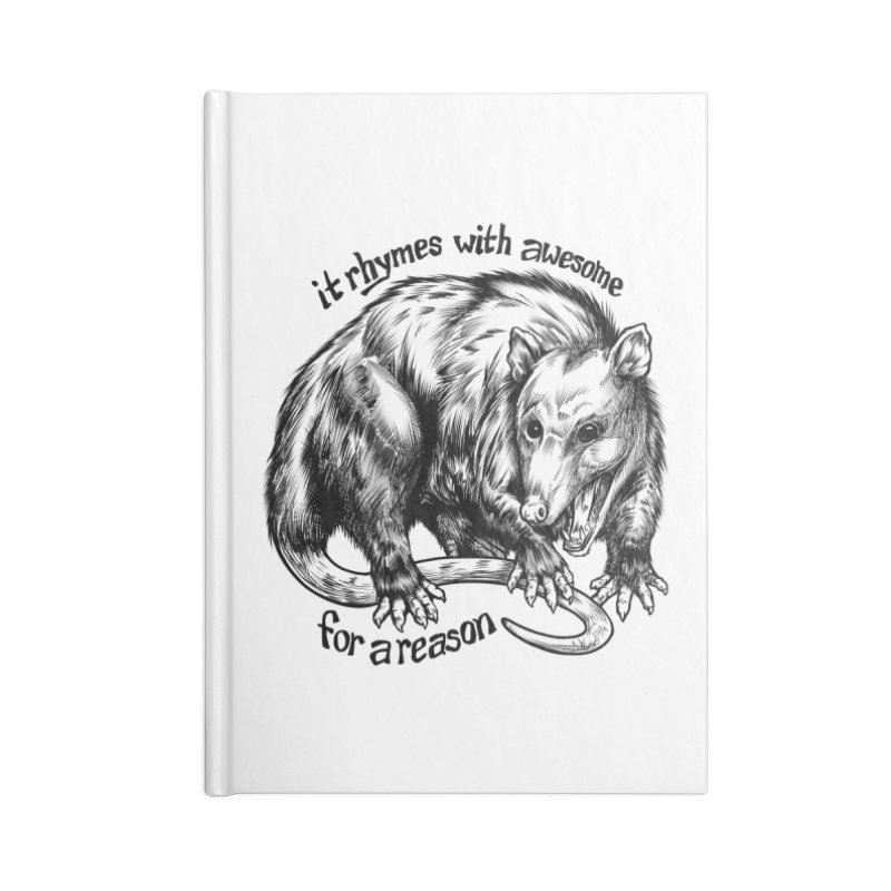 Awesome Possum (Low Key) Accessories Lined Journal Notebook by Octophant's Artist Shop