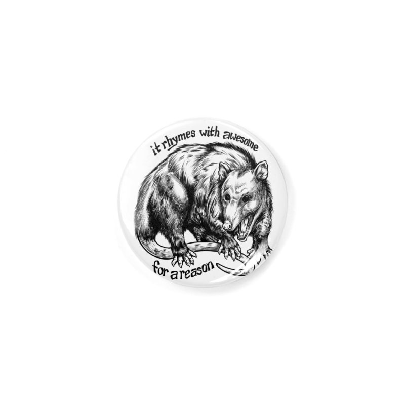 Awesome Possum (Low Key) Accessories Button by Octophant's Artist Shop
