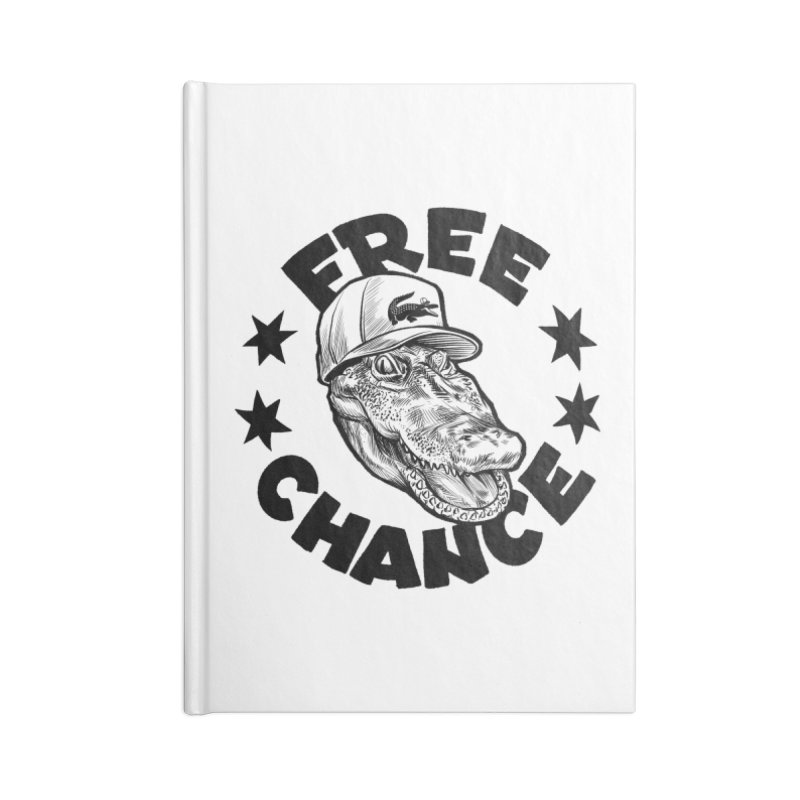 Free Chance (Black Print) Accessories Lined Journal Notebook by Octophant's Artist Shop