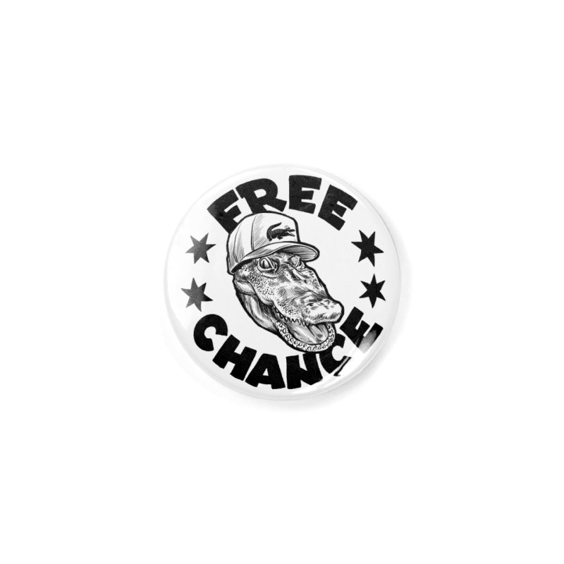 Free Chance (Black Print) Accessories Button by Octophant's Artist Shop